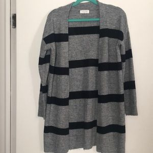 Stitch Fix Navy Blue and Gray Open Cardigan